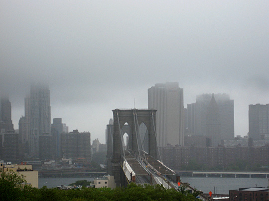 Brooklyn Bridge after Hurricane Irene