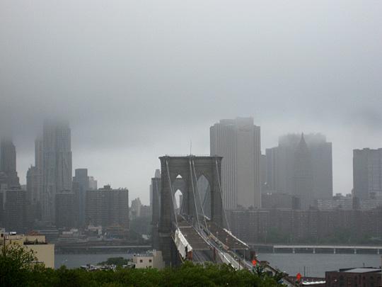 Brooklyn Bridge after Hurricane Irene