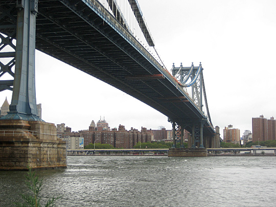 Manhattan Bridge from DUMBO after Hurricane Irene